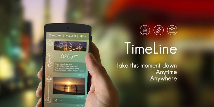 Timeline GO Locker Theme poster