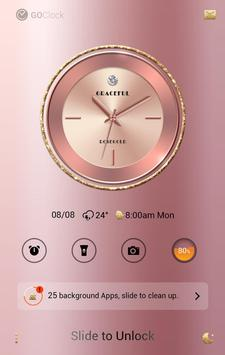 Graceful GO Clock Theme apk screenshot