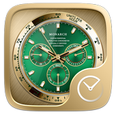 Green Monarch GO Clock Theme icon