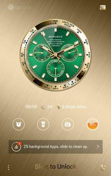 Green Monarch GO Clock Theme apk screenshot