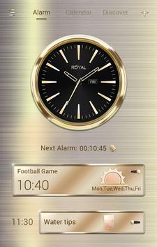 Royal GO Clock Theme poster