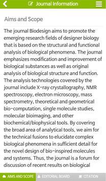 Biodesign Journal apk screenshot