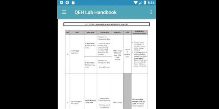 QEH Lab Handbook screenshot 7