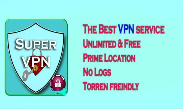 Super VPN turbo unblock speed vpn poster
