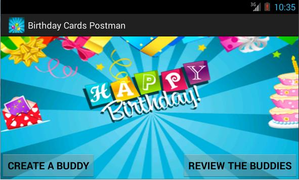 Birthday Cards Postman poster
