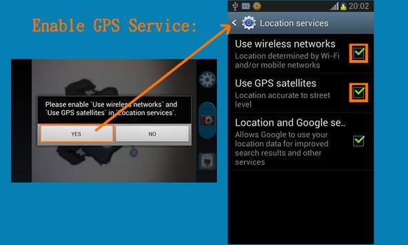 GPS Map Camera use BaiduMap apk screenshot