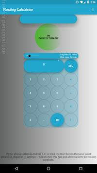 Floating Calculator poster