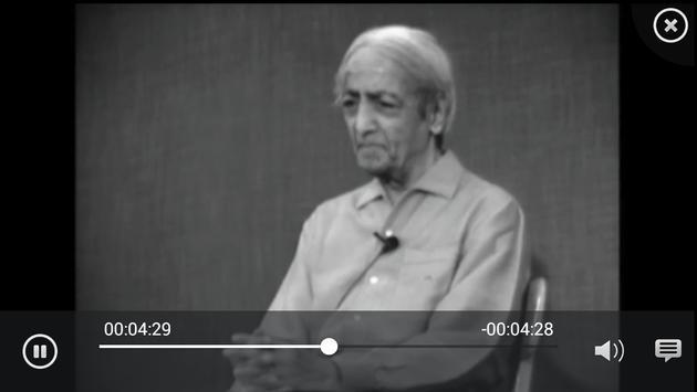J. Krishnamurti Q&A video app apk screenshot