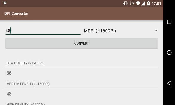 DPI Converter apk screenshot