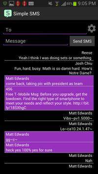 Simple SMS screenshot 2