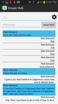 Simple SMS screenshot 4