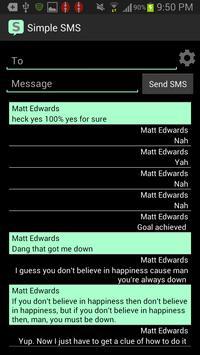 Simple SMS screenshot 5