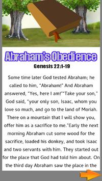 Bible Story : Abrahams Obedience screenshot 1