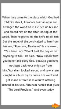 Bible Story : Abrahams Obedience screenshot 3