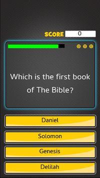 Bible Quiz Games For Kids Poster Apk Screenshot