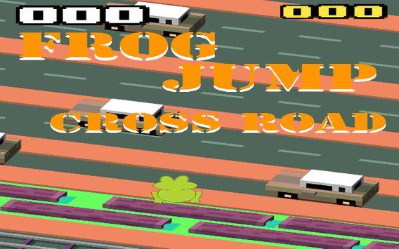 Frog jump cross road poster