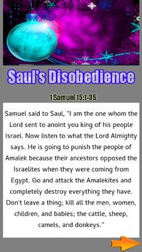 Bible Story : Saul's Disobedience apk screenshot