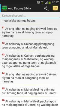 Ang Dating Biblia sa Tagalog apk screenshot