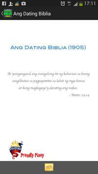 Ang Dating Biblia sa Tagalog poster