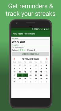 New Year's Resolution Tracker - Goals & Habits poster