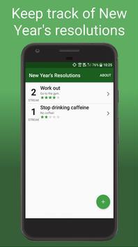 New Year's Resolution Tracker - Goals & Habits screenshot 1