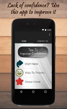 Tips To Improve Confidence poster