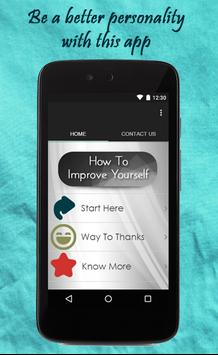 How To Improve Yourself poster