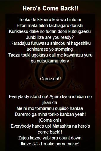 Theme Songs Lyric of Naruto for Android - APK Download