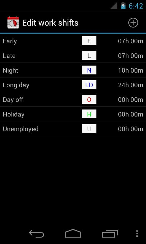 Work Shift Calendar for Android - APK Download