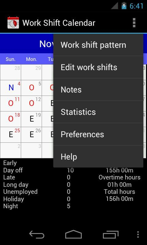 Calendrier Work Shift.Work Shift Calendar For Android Apk Download