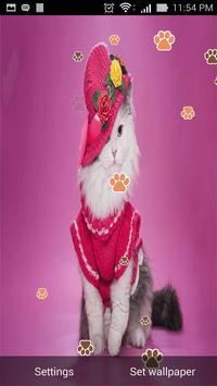 Cute Cat Live Wallpaper screenshot 1