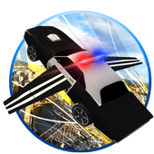 911🚔Flying Police Car 3D City icon