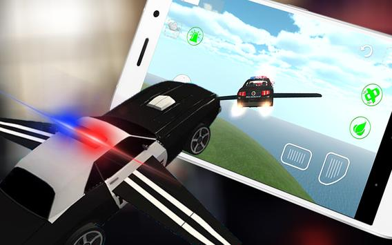 911🚔Flying Police Car 3D City apk screenshot