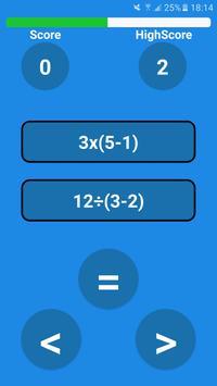 Math Comparator poster