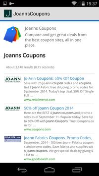 Coupons for Joanns poster