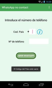 WhatsApp no contact screenshot 2