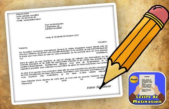 lettre de motivation pro pour emplois screenshot 2