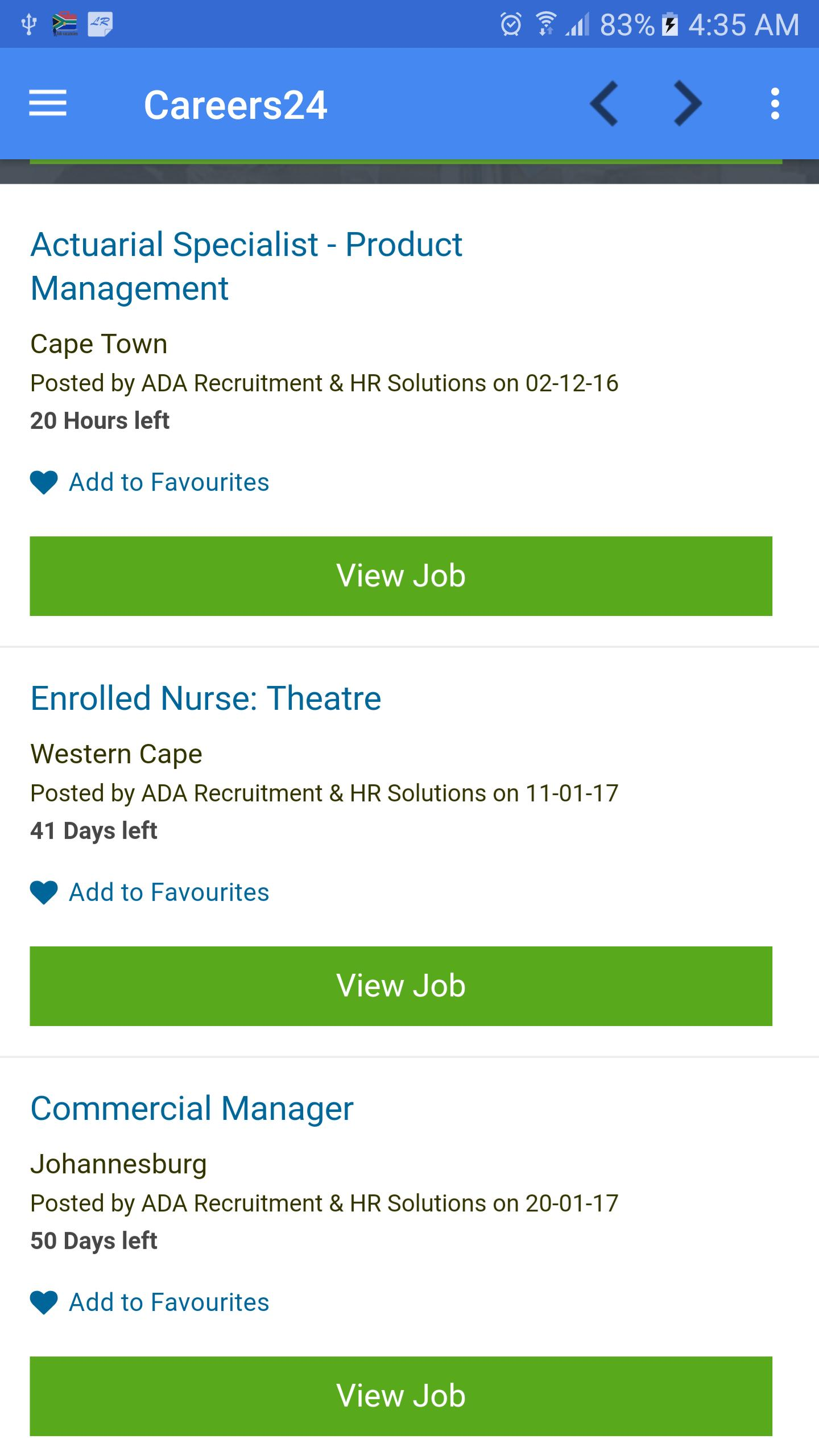 Job vacancies in South Africa for Android - APK Download
