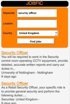 Job search.Work Search. JOBFIC apk screenshot