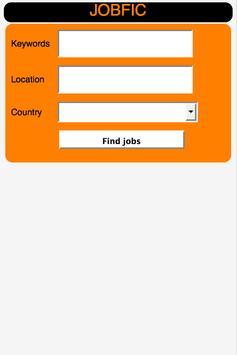 Job search.Work Search. JOBFIC poster