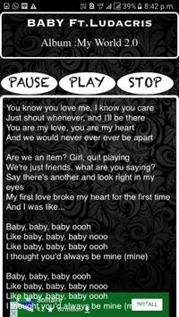 Justin Beiber Karaoke - Sing Along! apk screenshot