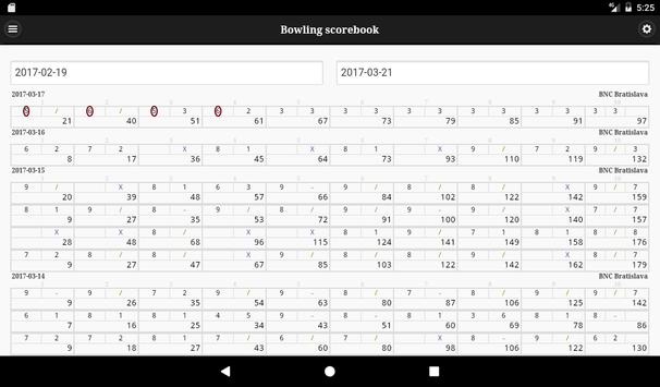 Bowling scorebook screenshot 10