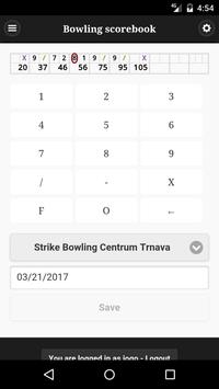Bowling scorebook screenshot 1