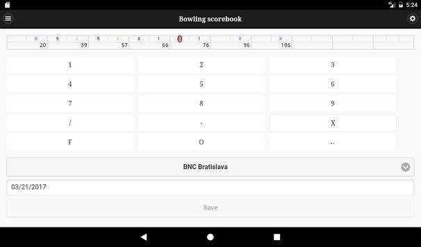 Bowling scorebook screenshot 9