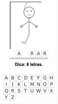 Jogo de Forca em Português apk screenshot