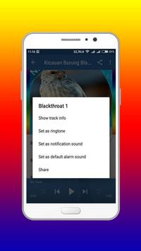 Kicau Burung Blackthroat master Offline screenshot 2
