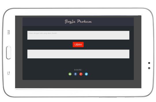 Jogja Prokem : Bahasa Walikan apk screenshot