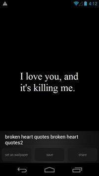 Broken Heart Quote Wallpapers Apk Screenshot