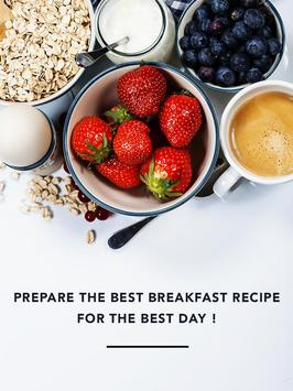 Healthy breakfast idea reciepy poster