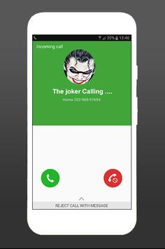 Free Call From The joker Fake poster